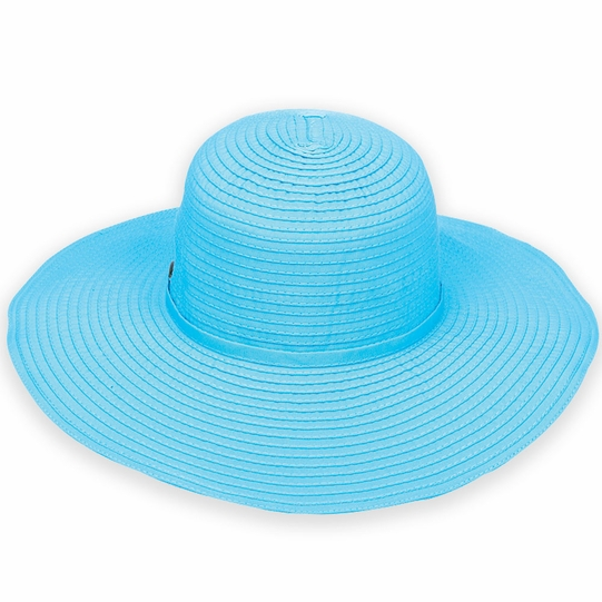 Ribbon Beach Hat in Turquoise