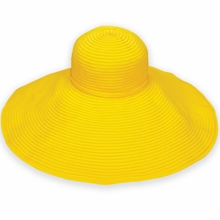 Ribbon Beach Hat in Yellow