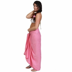 "Sequined / Embroidered / Beaded Sarong ""Pink"""