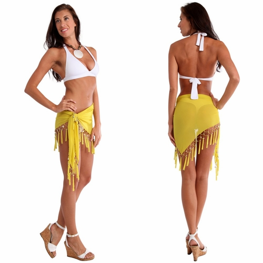 "Sheer Sarong ""Yellow"""