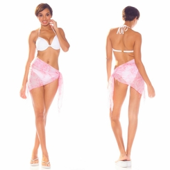 Half Smoked Sheer Sarong in Pink