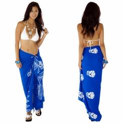 "Skull Sarong ""Blue and White"""