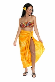 Smoked Cover-Up Pareo Premium Sarong In Top Quality Smoked Sarong In Gold