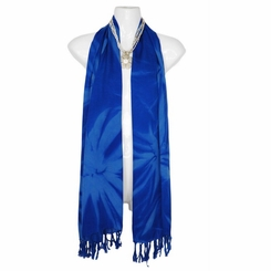Smoked Motif Extra Wide Neck Scarf, Wrap or Shawl - in your choice of colors