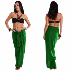 Solid Green FRINGELESS Sarong
