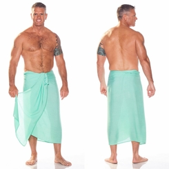 Solid Mint FRINGELESS Mens Sarong