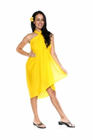 Solid Yellow FRINGELESS Sarong