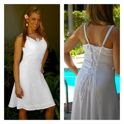 Summer Sundress in White