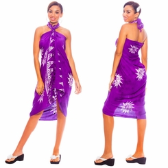 "Sun Celestial Sarong ""Purple White"""