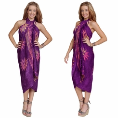 "Sun Celestial Sarong ""Purples w/ Multi-Colors"""