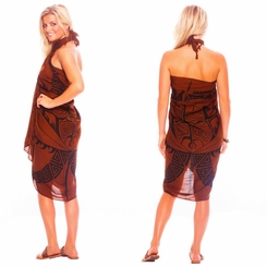 "Tattoo Sarong ""Brown"""
