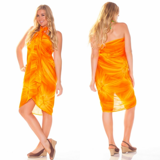 Tie Dye Sarong in Orange