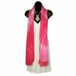 Tie Dye Swirl Motif Extra Wide Neck Scarf, Wrap or Shawl - in your choice of colors