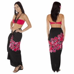 Top Quality Hawaiian Sarong in Pink Fringeless
