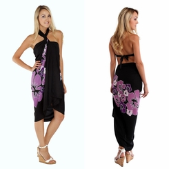 Top Quality Hawaiian Sarong in Purple Fringeless