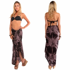 Top Quality Smoked Sarong in Brown / Light Brown