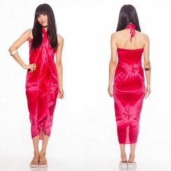 Top Quality Smoked Sarong in Pink