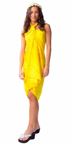 Top Quality Smoked Sarong in Yellow