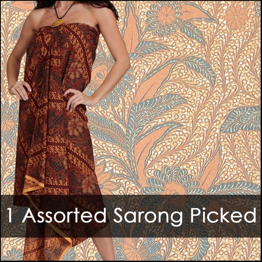 Womens Traditional Indonesian Batik Sarongs *Assorted
