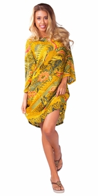 "Traditional Tunic Cover-Up ""Phoenix"" Batik"
