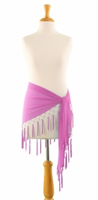 Triangle Sheer Sarong in Pink