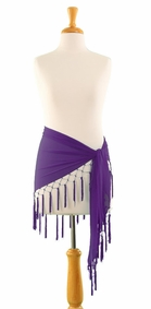 Triangle Sheer Sarong in Purple