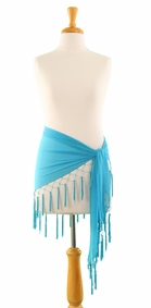 Triangle Sheer Sarong in Turquoise