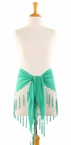 Triangle Sheer Sarong in Turquoise-Green