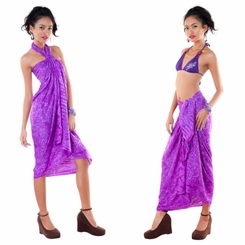 Turi Leaf Sarong in Light Purple