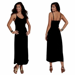 "Womens Long Dress / Longdress ""Black"" Embroidered Sequined"
