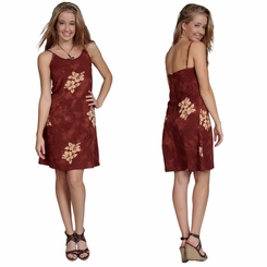 Womens Sundress - Hibiscus Brown <B>FINALE SALE NO RETURNS</B>