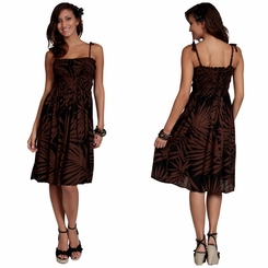 Womens Sundress/Tube Dress Palm Design