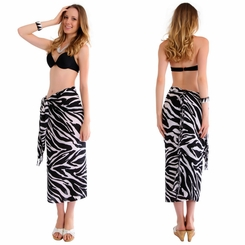Zebra Sarong in Black and White