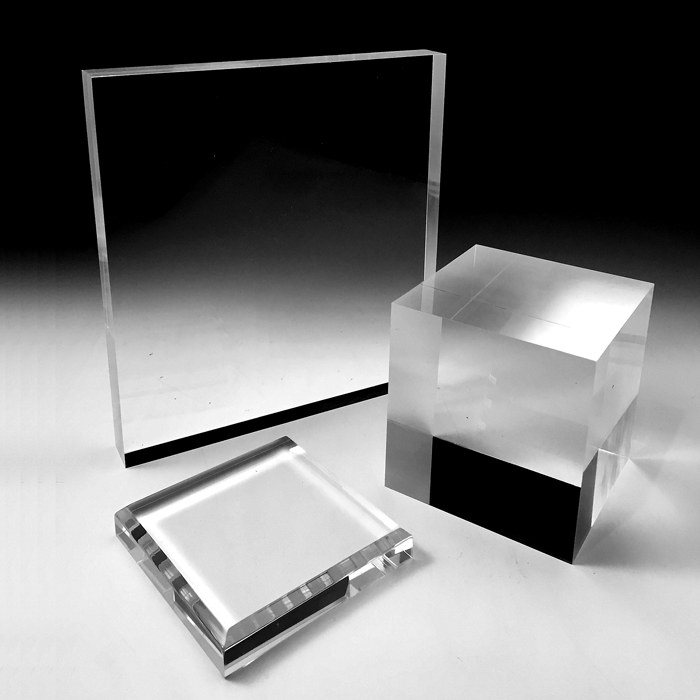 Solid acrylic display blocks large variety of sizes for Large acrylic block