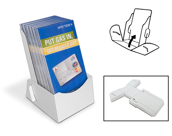 Low Cost Brochure Holders |Ship-Flat Peel & Stick – Counter ...