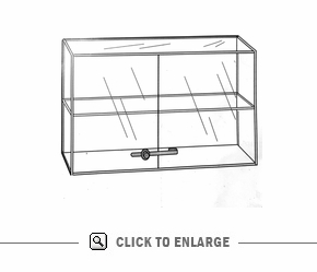 Large Display Case, D-Door, Lock-1FS
