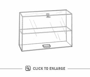 Large Display Case, S-Door, Lock-1FS