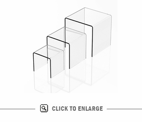 Square Acrylic Risers-Set of 3