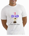 #1 Dad T-Shirt with Trophy