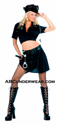 6 Piece Cop Skirt Set Costume - Markdown