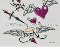 Angel Love Temporary Tattoos