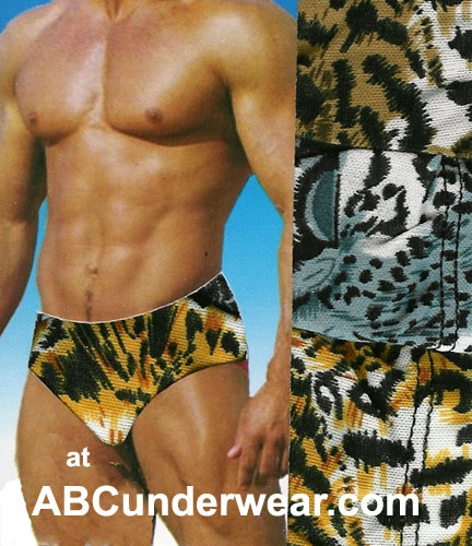 Get Ations Mens Leopard Print Briefs Animal Pants On