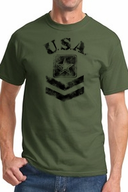 Army Logo Faux Stenciled Shirt