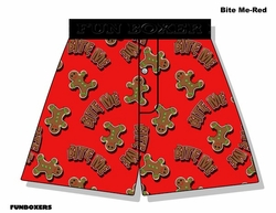 Bite Me Boxer Short with Gingerbread men  Clearance