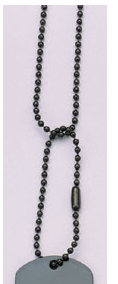 Black Dog Tag Chain - 24""