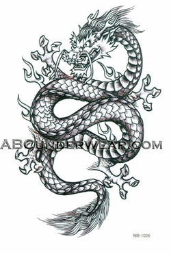 Black Dragon Temporary Tattoo