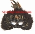Black Feather Mask with Tinsels