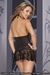 Black Sheer Nightdress with G-String