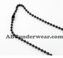 "Black Stainless Steel 18"" Necklace"