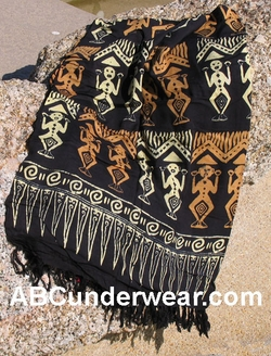 Black Tribal Sarong